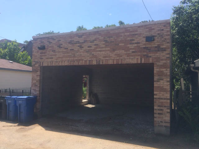 Brick Custom Built Garage
